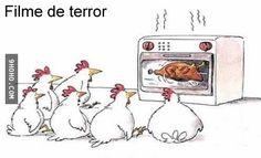 Filme de terror para galinhas