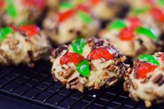 Poinsettia Ball Cookies - Grumpy's Honey Bunch