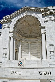 Amphitheatre at Arlington Cemetary - Virginia, directly across the Potomac River from the Lincoln Memorial #USA