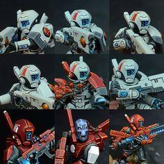 Tau Warhammer, Warhammer Figures, Warhammer 40k Miniatures, 28mm Miniatures, Fantasy Miniatures, Tau Army, Fire Warrior, Character Design Challenge, Tau Empire