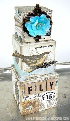 Artist Trading Blocks - Fly