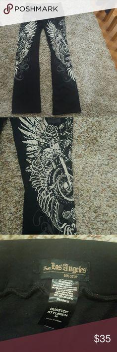 Biker leggings black medium Like new never worn no tags size medium los Angeles Pants Leggings