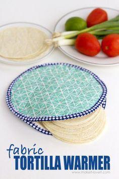 DIY Fabric Tortilla Warmer (…that's microwave safe!)