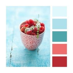 A beautiful summer colour palette in raspberry and ice blue that co-ordinates with our new Whitehaven furniture range.