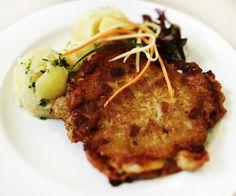 Denné menu Vranov   Bačovský bravčový rezeň, varené zemiaky - reštaurácia Hotel Patriot*** #hotel #restaurant