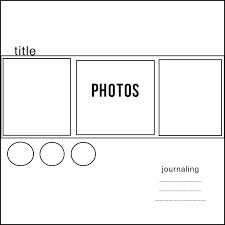 simple scrapbook layouts - Google Search