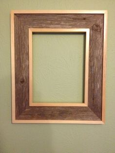 Rustic Barnwood frame trimmed with pine. Barnwood is unfinished and comes from my parent's ranch in West Texas. It would pair nicely with the lacquered Barnwood frame I also have available. 8 x 11 inside 15 x 18 outside Glass not included.