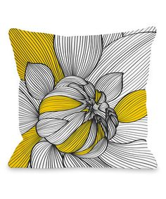 Loving this White & Gold Floral Throw Pillow on #zulily! #zulilyfinds