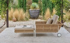 Playa Aluminum + Rope Outdoor Sofa & Lounge Chair Collection