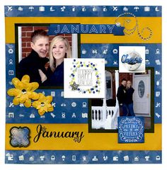 Layout: A Whole Year of Layouts featuring the new Calendar Girl Collection from Bo Bunny