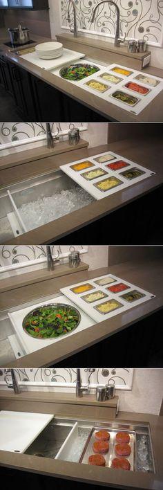 Brilliant Kitchen Design: The Galley Sink with Sliding Accessories via Core77