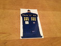 Doctor Who TARDIS Temporary Tattoo by BeAwesomeMakeStuff on Etsy, $1.00 - For Ally!