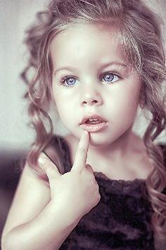 Russian child model Milana Trofimova.