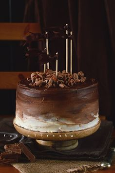 Gourmet Recipes, Sweet Recipes, Cake Recipes, Cooking Chocolate, Love Chocolate, Chocolate Cake, Hungarian Desserts, Cake Board, Novelty Cakes