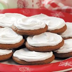 Gobble up these amazing Frosted Molasses Cookies!  Just the right amount of Grandma's Molasses will make this treat a hit.  grandmasmolasses.com #recipe #molasses #allnatural #cookies