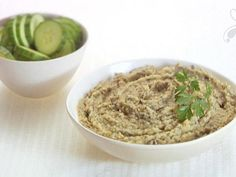 Get Giada De Laurentiis's White Bean and Roasted Eggplant Hummus Recipe from Food Network