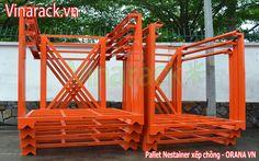 Pallet thép kê hàng trong kho vận tải tổng hợp Cantilever Racks, Garden Bridge, Outdoor Structures