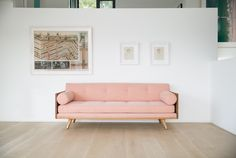 Exposed wood frame upholstered series that offers 3 basic configurations (chaise, sectional and sofa) which are infinitely modifiable. With no pre-set con