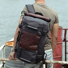 7a9e8fd37a2a Ibagbar Multifunction Vintage Durable Canvas Laptop Computer Backpack  Daypack Rucksack Gym Bag Messenger Bag Shoulder Bag