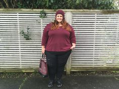 7312d1d44067 New Zealand plus size blogger Meagan Kerr wears wine beanie