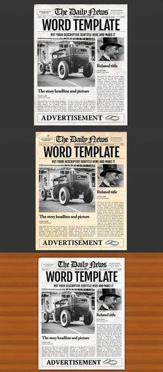 27 Best Newspaper Template Images Journal Design Journaling