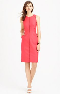 J. Crew   Ladder-stitch dress in bi-stretch cotton -- Available in various colors