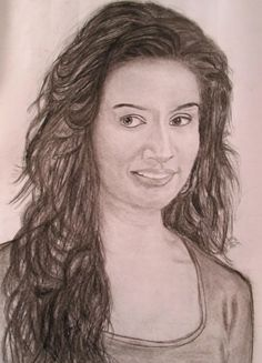 Wow wonderful and beautiful sketch of SHRADDHA KAPOOR ...