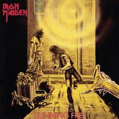 """Há 35 anos, no dia 08 de fevereiro de 1980, o Iron Maiden lançava o single """"Running Free"""". Na capa, temos a primeira aparição oficial do Eddie de Derek Riggs e os nomes de diversas bandas que influenciaram o Maiden. (08.02.2015)"""
