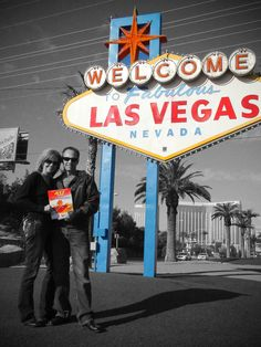 Daphne Hanson in Las Vegas with the January 2010 issue of 417 Magazine.