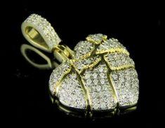 Ringjewels Heart Cut Pink Sapphire Sim Diamond Devil Heart Pendant 18 Necklace in 14K White Gold Plated