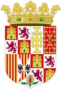 Charles I and Joanna as Spanish Monarchs Roman Catholic, Coat Of Arms, Mantel, Spanish, Kids Rugs, Wikimedia Commons, Genealogy, Flags, Empire