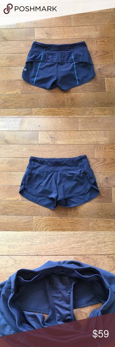 """💙Lululemon Speed Shorts💙 Lululemon Speed Shorts-Excellent Condition!! Color is Midnight Navy-Back zip pocket,front gel pockets, never ending drawstring at the waist, 4 way stretch, 2 1/2"""" inseam. Check out my closet for tons of other lulu and Athleta items!! Bundle & save-🚫lowball offers lululemon athletica Shorts"""