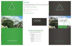 Brochure GR20 (Corse) Recto #brochure #illustration #graphisme #gr20