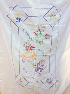 Vintage Crib Sheet Embroidered Baby Crib by AWorkofHeartVintage, $34.95