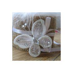 papillon blancs en organza pour déco de table