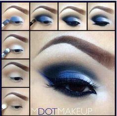 Blue eyeshadow tutorial