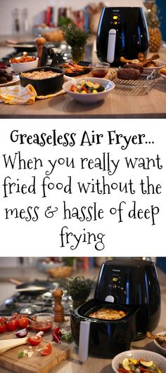 Greaseless air fryer - counter top frying without the mess and hassle usually associated with deep friend food. http://xacey.com/greaseless-air-fryer/