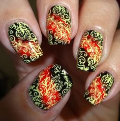 MoYou Nails Stamping Plate 222 - #moyou #nails #nailart #nailpolish #stampingplate #wendysdelights - bellashoot.com