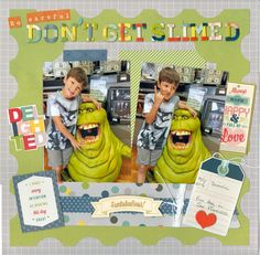 Be careful, grandson Dominic, Don't get slimed - American Crafts - Shimelle Collection - True Stories