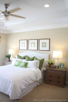 nightstands with white headboard