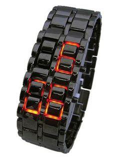 """Samurai Inferno"" Watch by Gadgets & Gear (Black/Red) #inkedshop #samurai #watch #inferno #red #hot #technology"