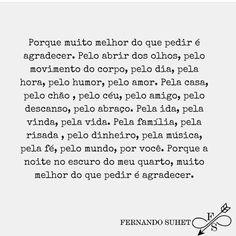 #regram do querido @fernandosuhet sobre essa palavra linda chamada gratidão. #frases #obrigada #gratidão #agradecer #namaste