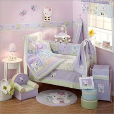 Image Detail for - Baby Nursery Bedding - Hello Kitty Baby Bedding Set