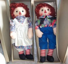 Raggedy Ann and Andy Dolls | georgene novelties black outline nose raggedy ann and andy