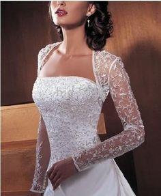 Custom Lace Bridal Wedding bolero Jacket Long Sleeve 66 ~ simply elegant ♥