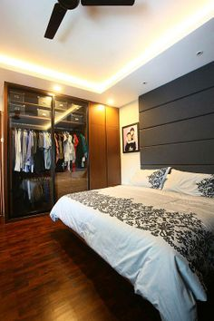 #hdb #design #bedroom #wardrobe #Singapore #bedhead #finelinedesignstudio