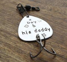 A boy and Hs Daddy Fishing Lure www.sierrametaldesign.com $24