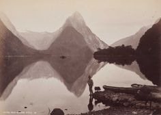 Mitre Peak, Milford Sound, NZ. From the album: 'Australasian scenery' - Google Cultural Institute