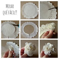 Flor de papel rendado | MEU MUNDO CRAFT