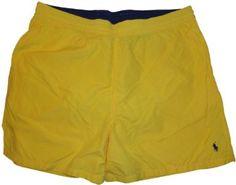 470aeaa7dee2b Men's Polo by Ralph Lauren Swimming Trunks Bathing Suit Big & Tall Yellow  (2XB): Amazon.co.uk: Clothing